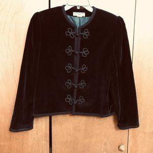 Vintage Crush Velvet Jacket - Gothic Geisha
